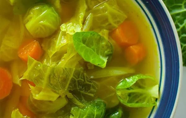 green cabbage soup
