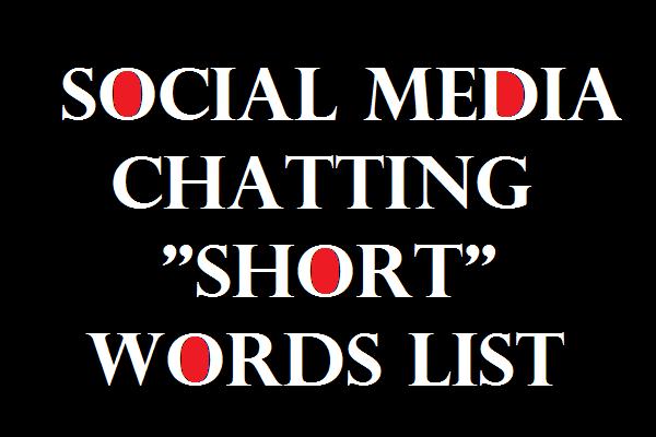 common social media slang